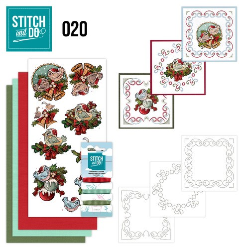 Card Deco - Kaartenpakket - Stitch & Do No. 20 - Christmas Tweety - STDO020