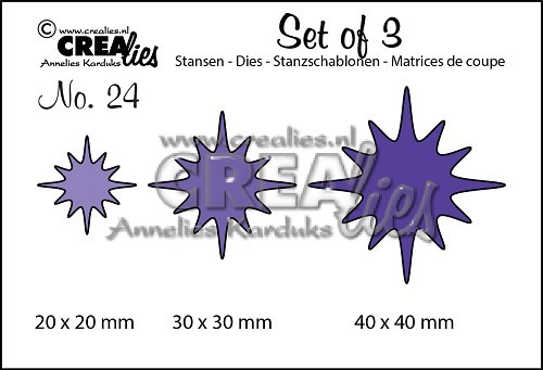 Crealies - Die - Set of 3 - Fonkelingen - No. 24