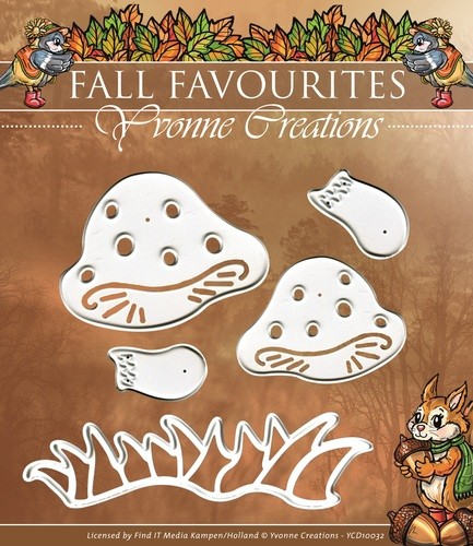 Card Deco - Yvonne Creations - Die - Fall Favorites - Toadstool