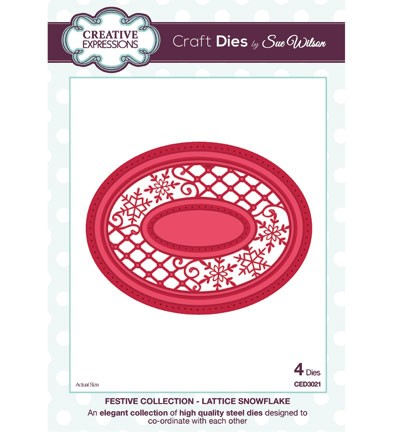 Creative Expressions - Die - The Festive Collection - Lattice Snowflake