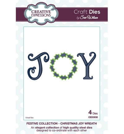 Creative Expressions - Die - The Festive Collection - Christmas Joy Wreath