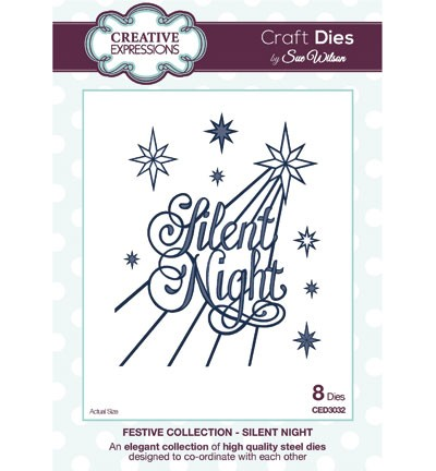 Creative Expressions - Die - The Festive Collection - Silent Night