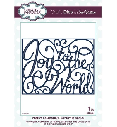 Creative Expressions - Die - The Festive Collection - Joy to the World