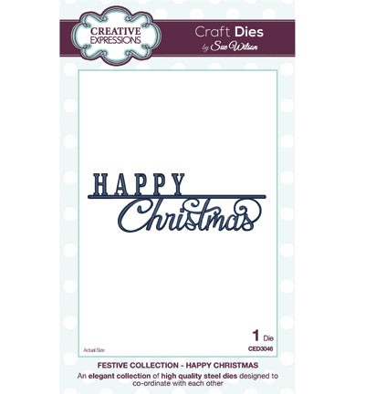 Creative Expressions - Die - The Festive Collection - Happy Christmas - CED3046