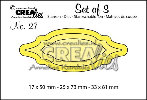 Crealies - Die - Set of 3 - Labels 1 - No. 27