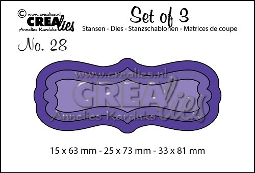 Crealies - Die - Set of 3 - Labels 2 - No. 28