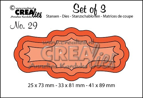 Crealies - Die - Set of 3 - Labels 3 - No. 29