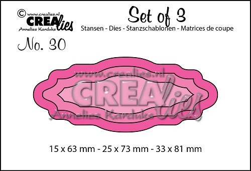 Crealies - Die - Set of 3 - Labels 4 - No. 30