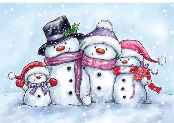 Wild Rose Studio`s - Clearstamp - Snowmen - CL461