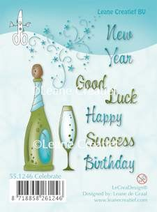 Leane Creatief - Clearstamp - Celebrate - 55.1246