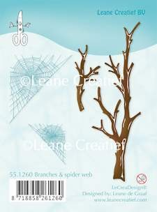 Leane Creatief - Clearstamp - Branches & spider web - 55.1260