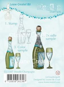 Leane Creatief - Clearstamp - Doodle - Champagne - 55.1307