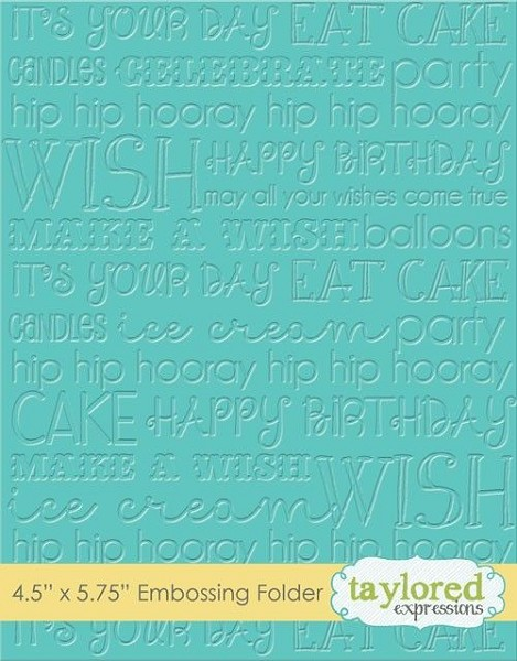 Taylored Expressions - Embossingfolder - Graphic Impressions - Birthday - TEEF30