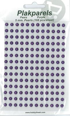 Hobbytheek - Parels & Strass - Plakparels - 5mm: Purple - 1501-008