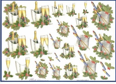 Mireille - 3D-knipvel A4 - Christmas - Champagne