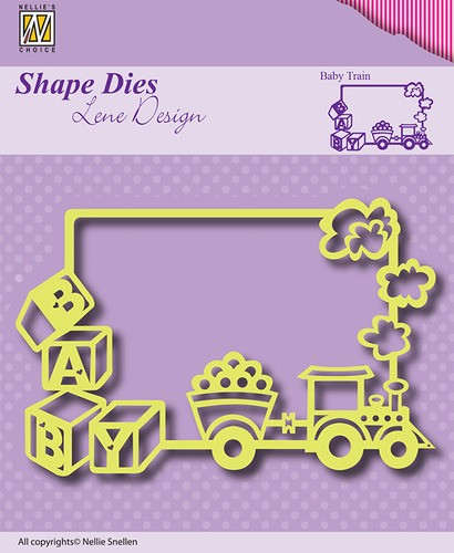Nellie Snellen - Shape Die - Lene Design - Frame Baby-train