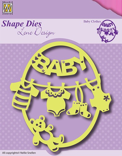 Nellie Snellen - Shape Die - Lene Design - Frame Baby-clothes-bear