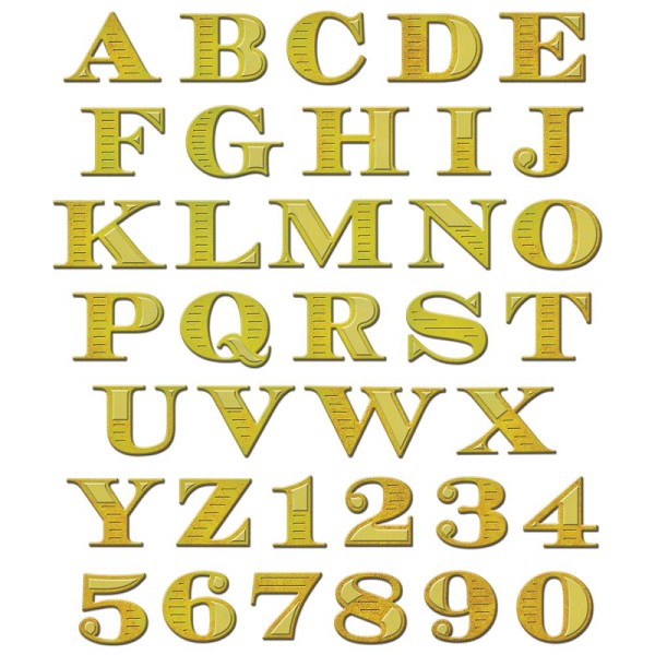 Spellbinders - Die - Shapeabilities - Etched Alphabet
