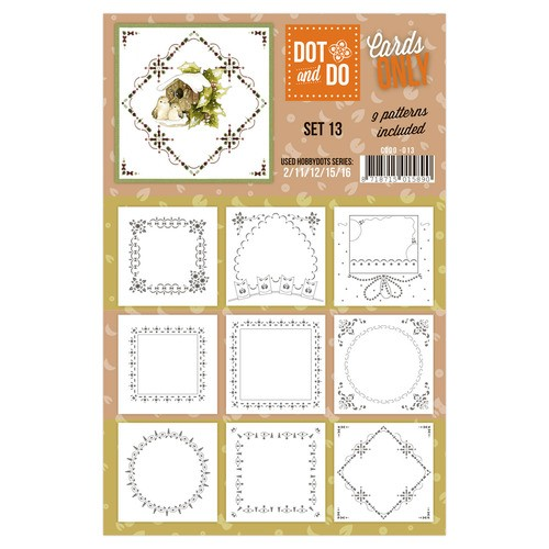 Card Deco - Oplegkaarten - Dot & Do - Cards Only - Set 13