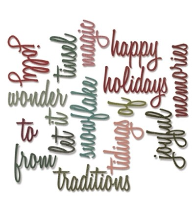 Sizzix - Die - Thinlits - Holidays Words 2: Script