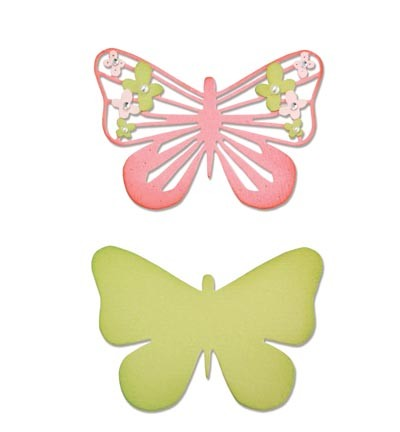 Sizzix - Die - Thinlits - Graceful Butterfly #2