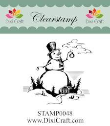 Dixi Craft - Clearstamp - Snowman in landscape - STAMP0048