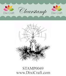 Dixi Craft - Clearstamp - Christmas Candle - STAMP0049