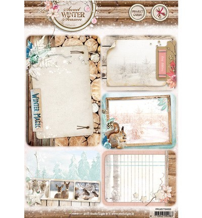 Studio Light - Oplegkaarten - Sweet Winter Season - PROJECTSWS05