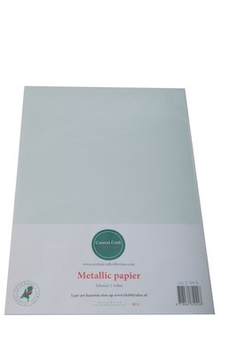 Central Craft Collection - Metallic Papier: Lichtgroen grijs - 1103-003