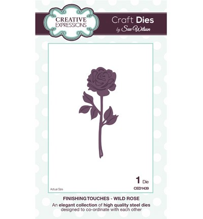 Creative Expressions - Die - The Finishing Touches Collection - Wild Rose