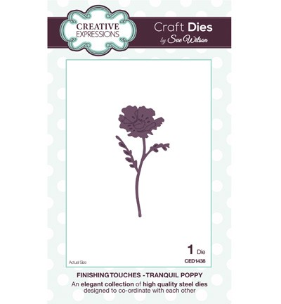Creative Expressions - Die - The Finishing Touches Collection - Tranquil Poppy