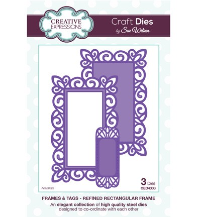 Creative Expressions - Die - The Frames & Tags Collection - Refined Rectangular Frame