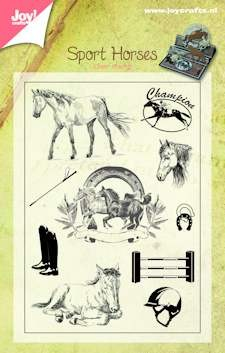 Joy! crafts - Clearstamp - Sport Horses - 6410/0384