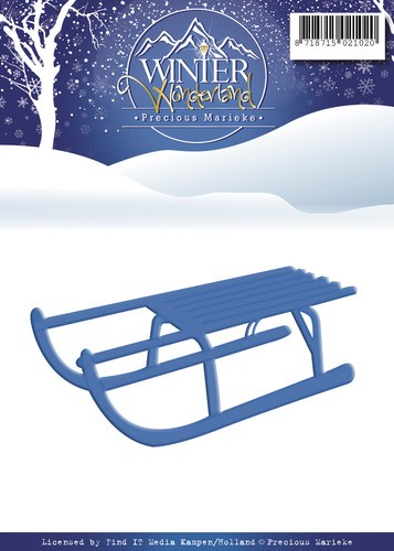 Card Deco - Precious Marieke - Die - Winter Wonderland - Sled