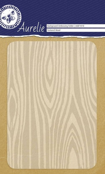 Aurelie - Embossingfolder - Background - Textured Wood - AUEF1010