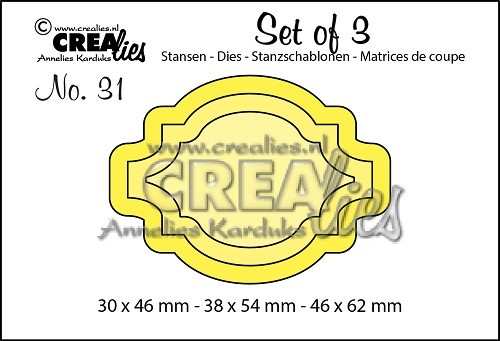 Crealies - Die - Set of 3 - Labels 5 - No. 31
