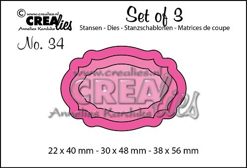 Crealies - Die - Set of 3 - Labels 8 - No. 34