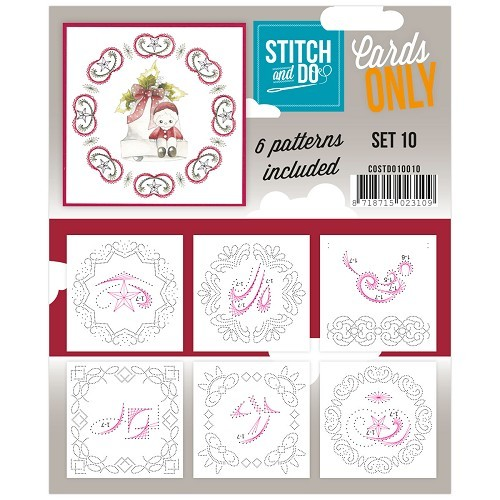 Card Deco - Stitch & Do - Oplegkaarten - Cards only - Set 10 - COSTDO10010