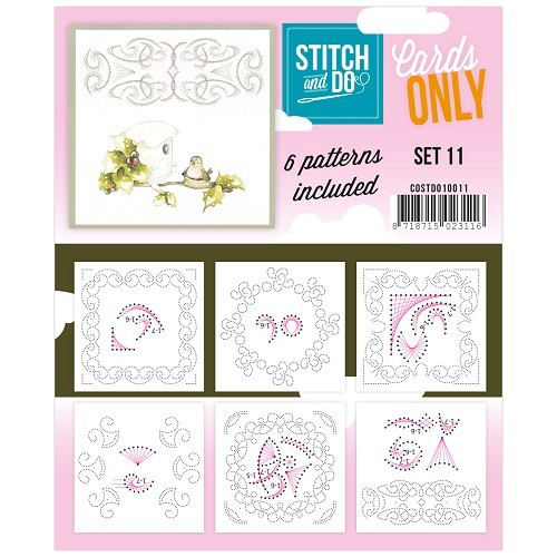 Card Deco - Stitch & Do - Oplegkaarten - Cards only - Set 11 - COSTDO10011