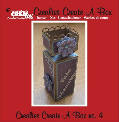 Crealies - Die - Create-A-Box - Halve toffee doos - CCAB04