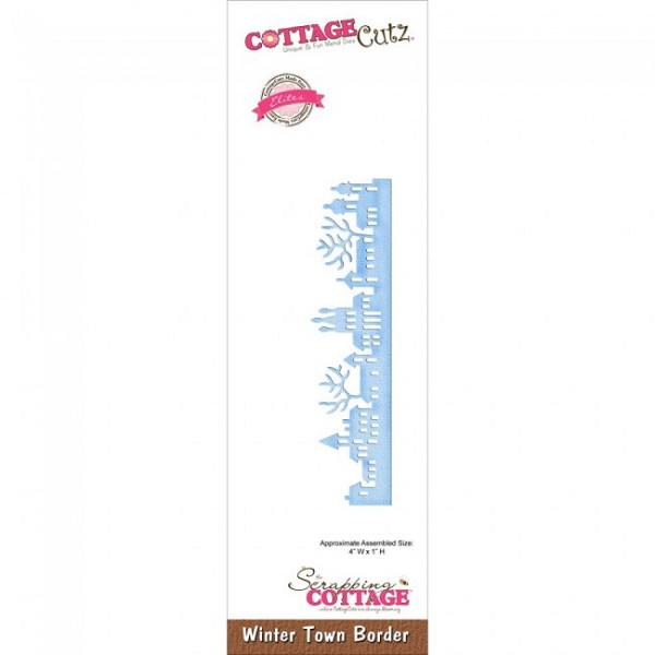 Cottage Cutz - Die - Winter Town Border - CCE-354