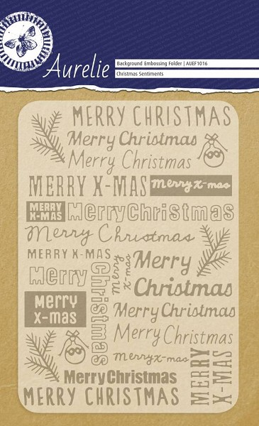 Aurelie - Embossingfolder - Background - Christmas Sentiments - AUEF1016