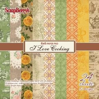 ScrapBerry`s - Paperpack - I Love Cooking - SCB220605811