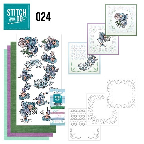 Card Deco - Kaartenpakket - Stitch & Do No. 24 - Fairies - STDO024