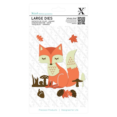 Docrafts - Xcut - Large Die - Layered Fox