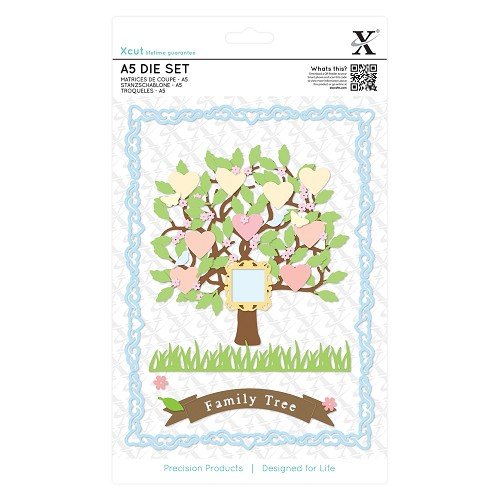 Docrafts - Xcut - Die set - Family Tree