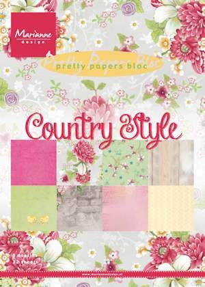 Marianne Design - Paperpack - Pretty Papers - Country Style - PK9130