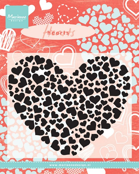 Marianne Design - Clearstamp - Heart XL - CS0951