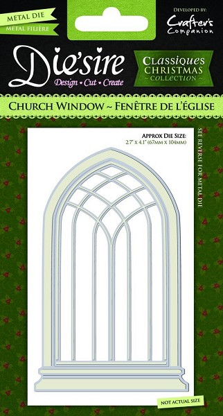 Die`sire - Die - Classiques - Christmas Collection - Church Window - DS-CX-CHUR