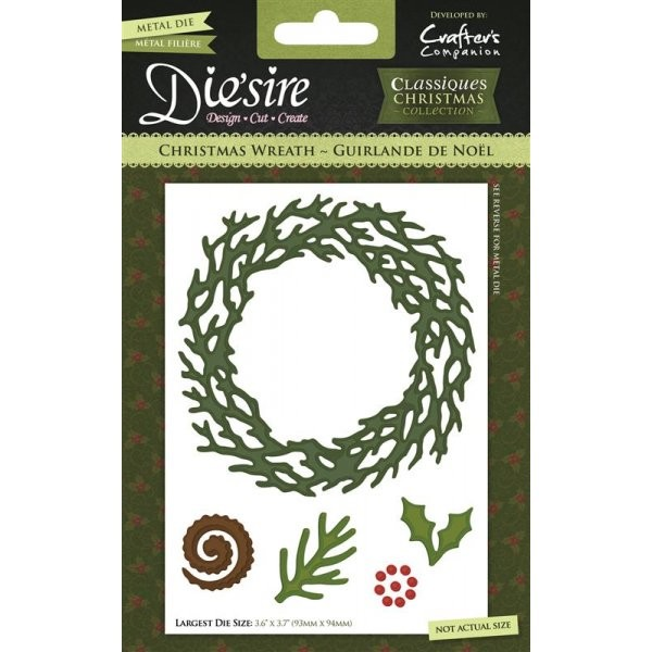 Die`sire - Die - Classiques - Christmas Collection - Christmas Wreath - DS-CX-CWRE
